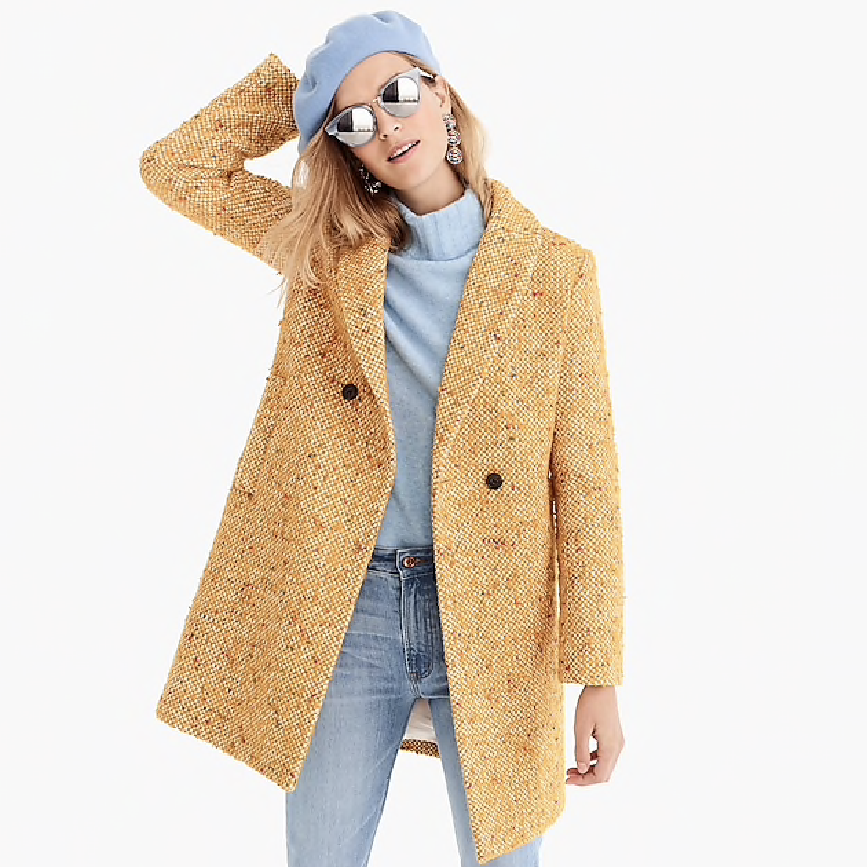 J.Crew 40% Off Sale - Use code TOGETHER to get 40% off your purchase online and in-store this Black Friday (and I'm sure through Cyber Monday). I looovvvee this tweed coat so much and with the sale is down to $195 instead of $325. Another favorite are these High Block Mules and stunning Long Sleeve Peplum Top.