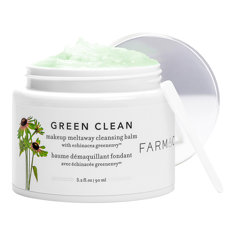 """Farmacy Green Clean Makeup Meltaway Cleansing Balm - I'm not sure why I haven't talked about this on the blog this year but this has been a game changer. Last year Glossier's Milky Jelly Cleanser was my go-to for removing makeup, but it has gone to the wayside once this came along. A little goes a long way and solid to oil really removes EVERY LAST BIT of makeup. I was without it for about a week and I noticed a huge difference in my skin when I was using cleaning water instead of this. Bonus: It's a verified """"Clean"""" product at Sephora!"""