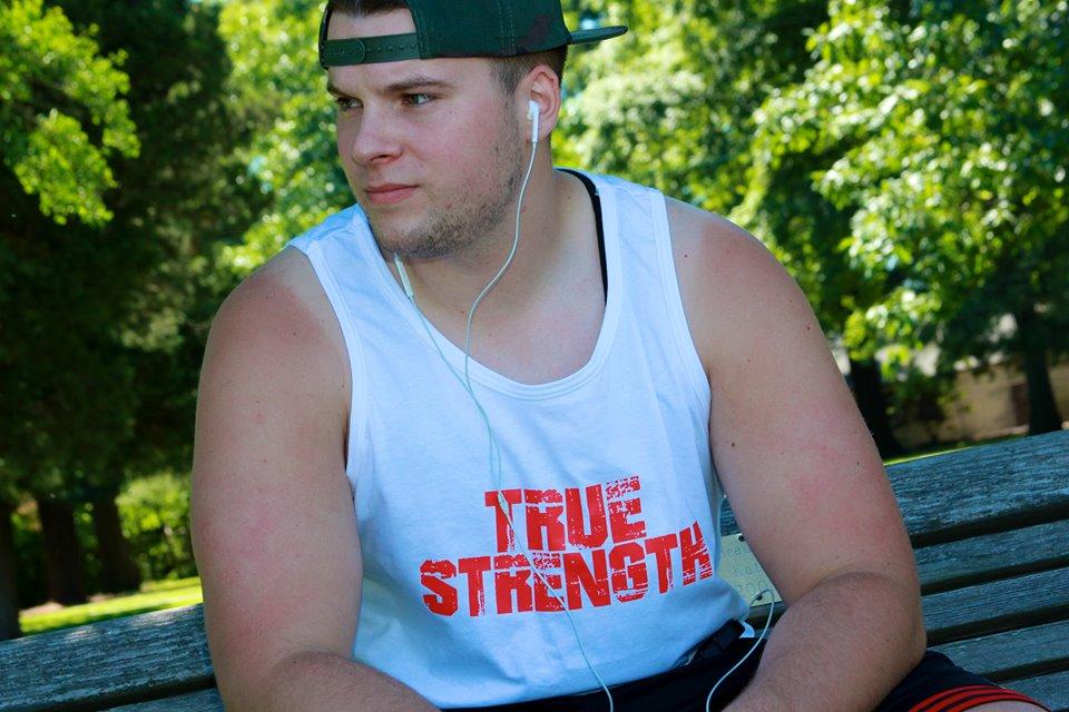 Aaron Simpkins Owner of True Strength Apparel