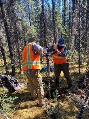 Figure 5.    Soil sampling team in action, Fairbanks Gold District, Alaska.