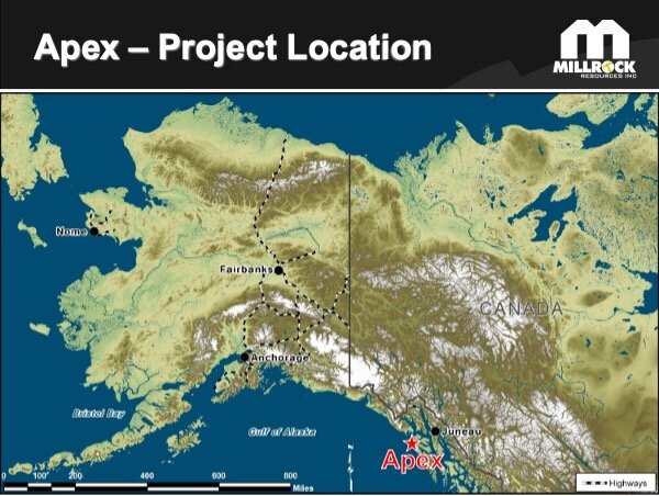 Figure 1.    Apex Gold Project Location Map