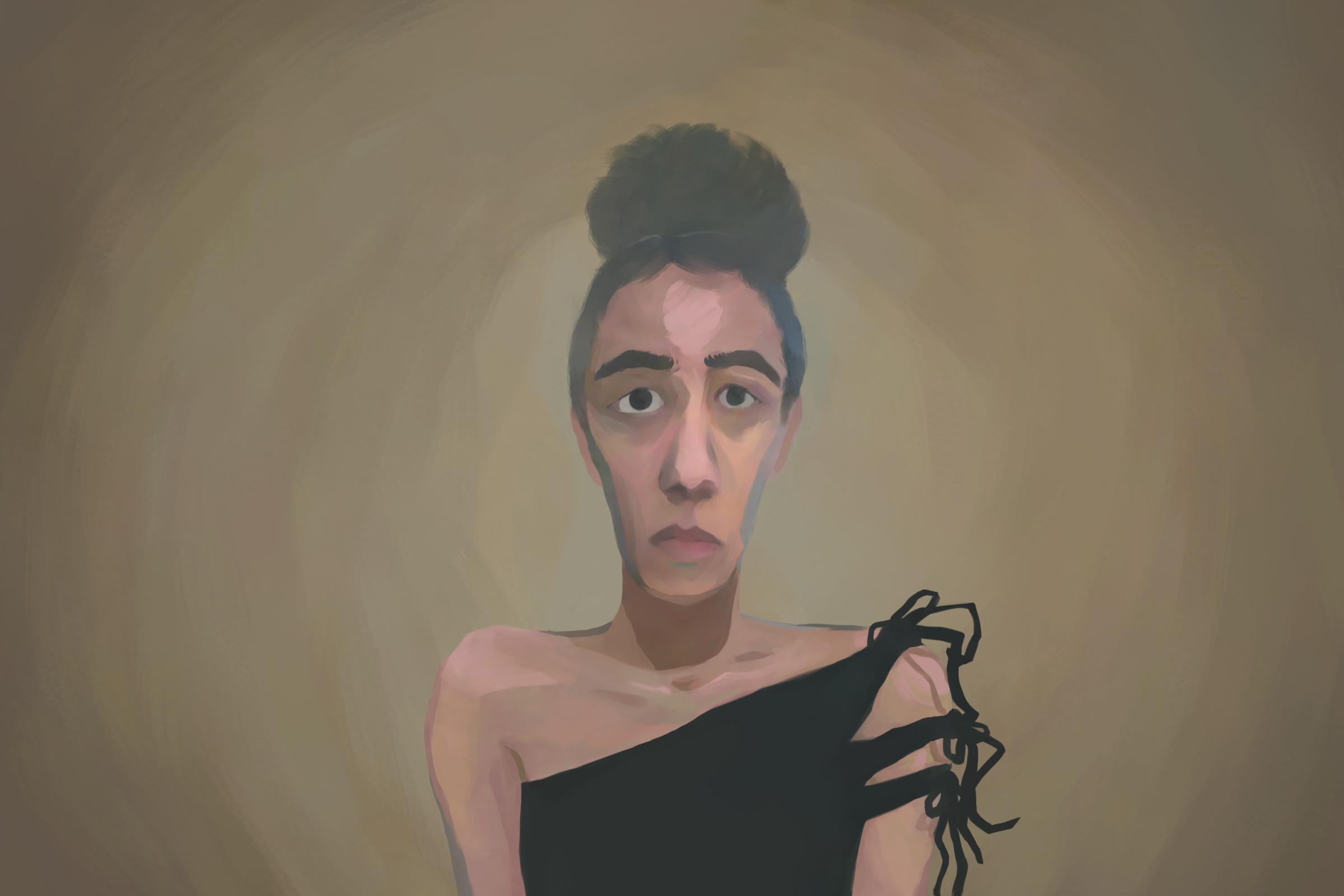 Self-portrait by Clara Mejías