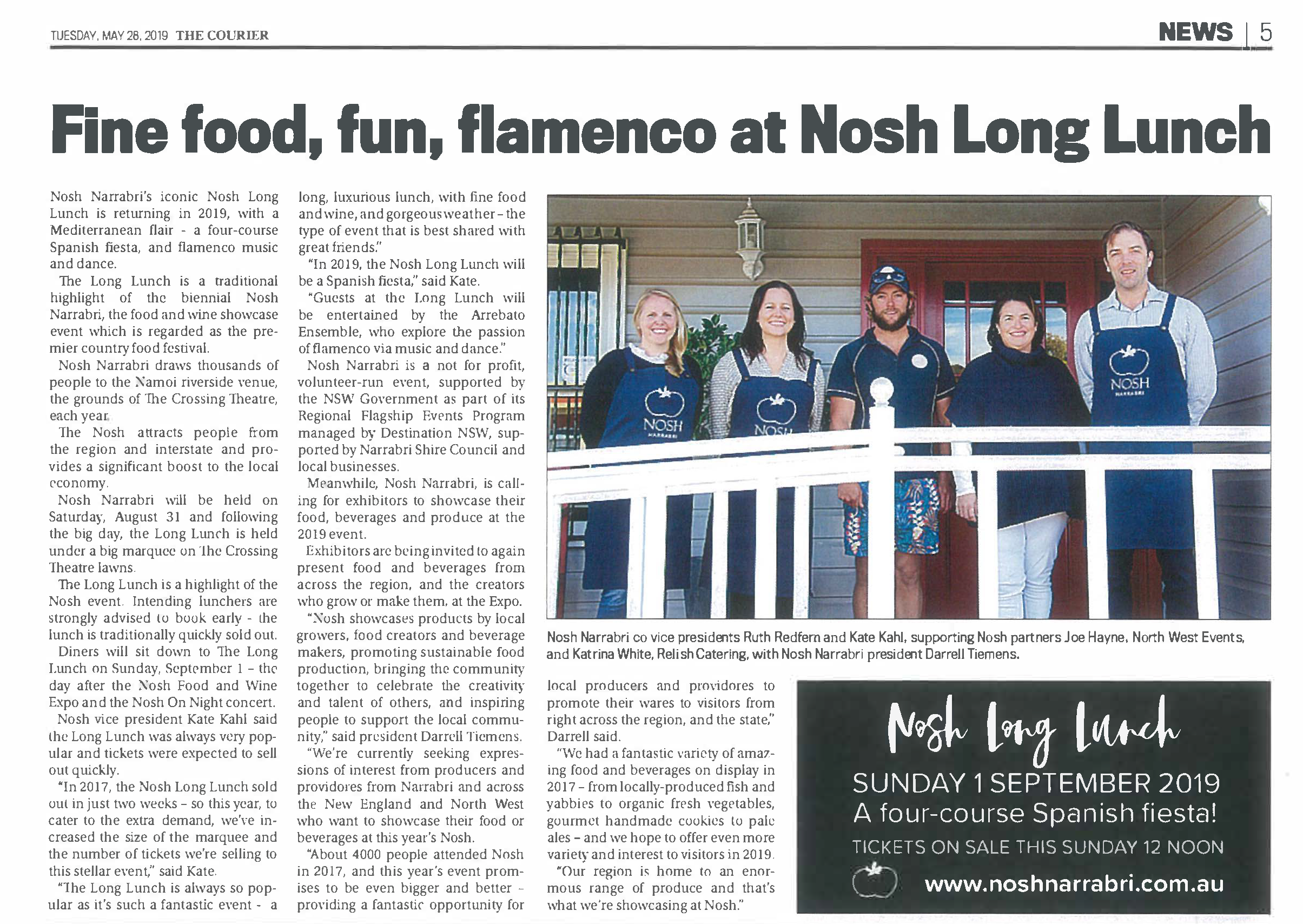 Nosh Long Lunch Courier 28 May.png