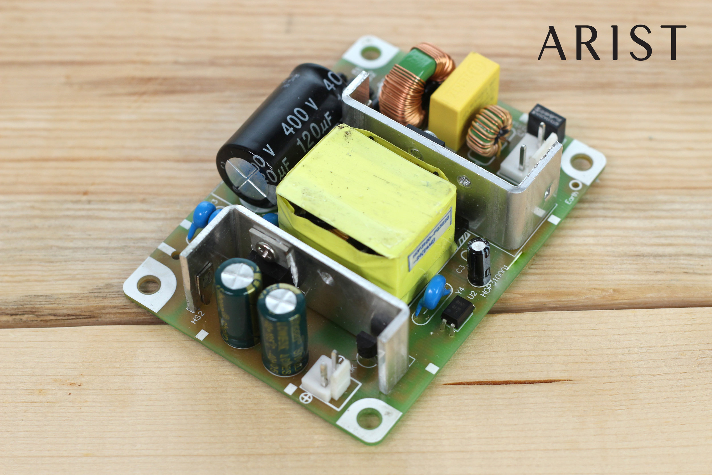 Arist's Switch-Mode Power Supply (SMPS). Looks like a mini power plant.
