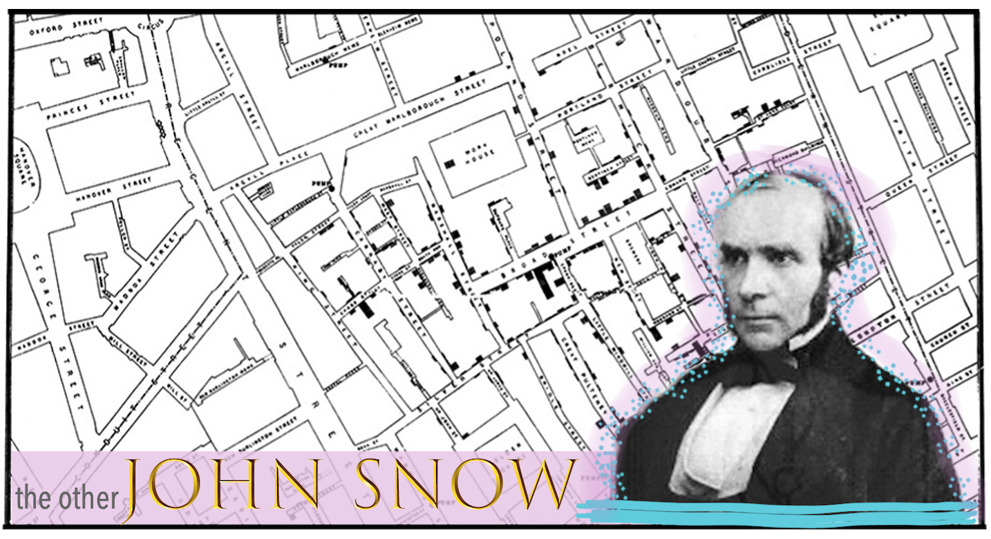 Collage by Design Dearly. John Snow image from  Wikipedia . Map image from  CDC .