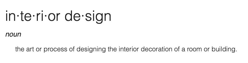 googles definition of interior design