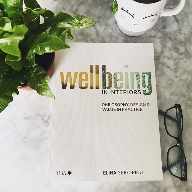 Just received my copy @grigoriouinteriors! Excited to dive in! 🤓 weekendreading #wellbeing #designforwellbeing