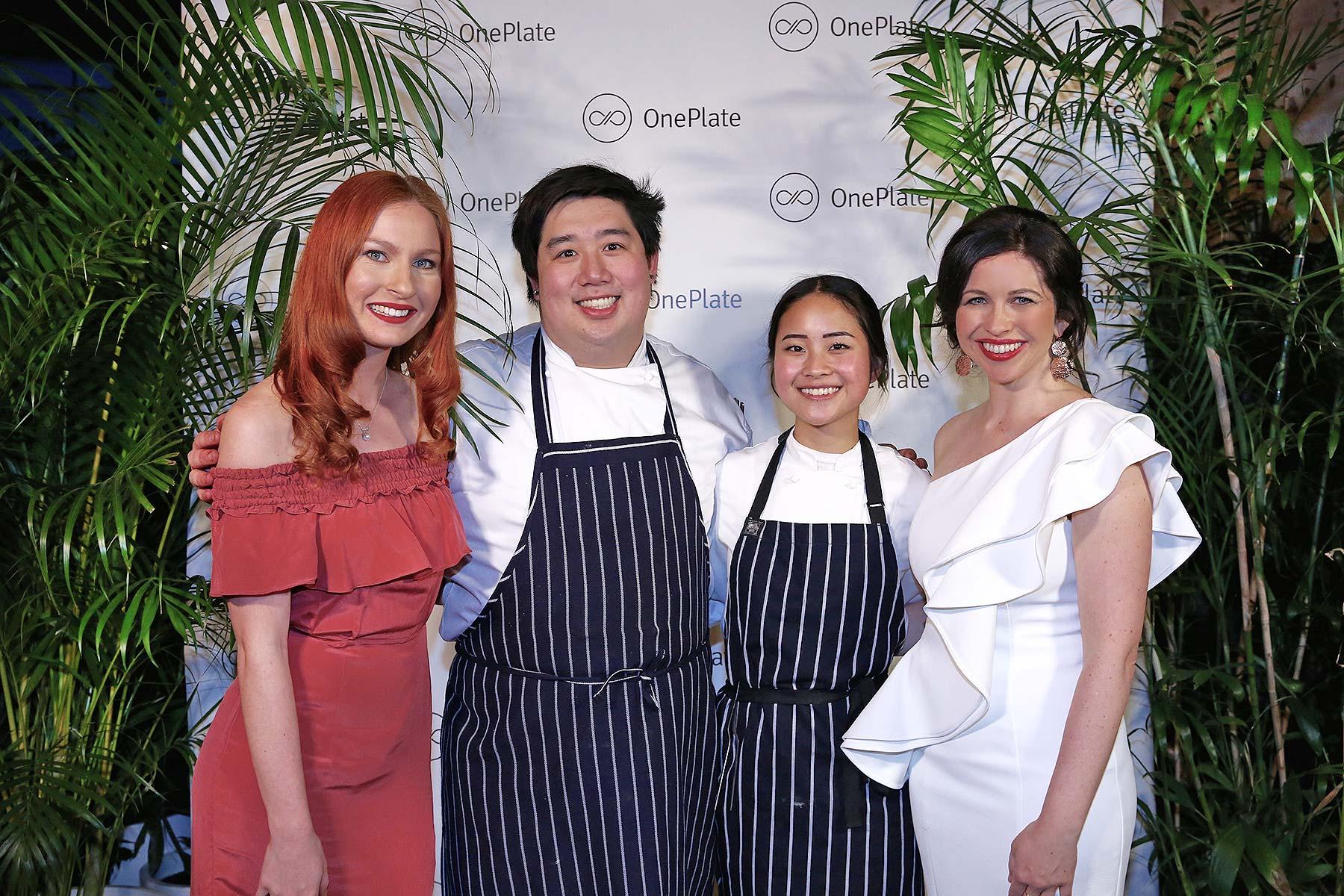 OnePlate's Sami, Bryan Zhu, Michelle Lukman and OnePlate co-founder Thérèse Nichols.