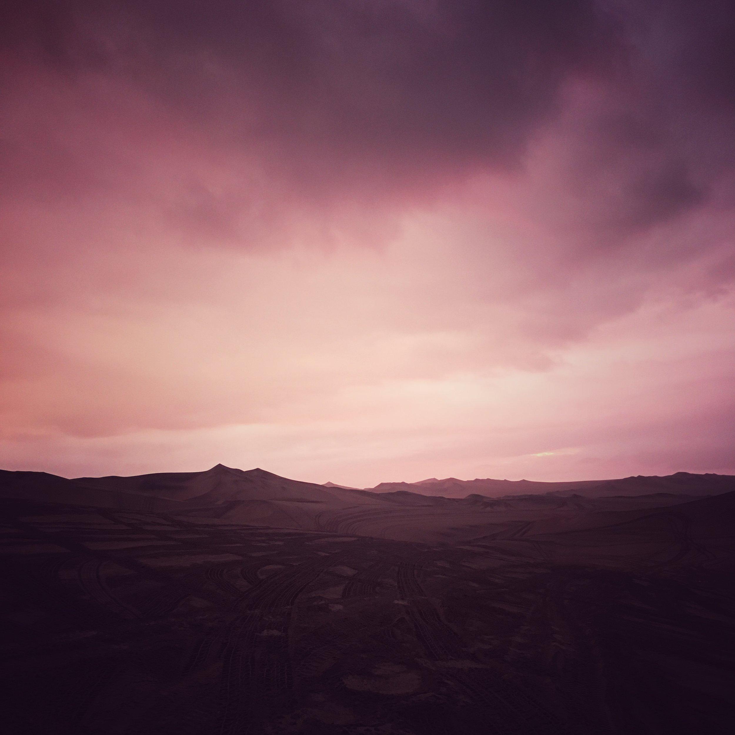 sand dune sunset : Huacachina