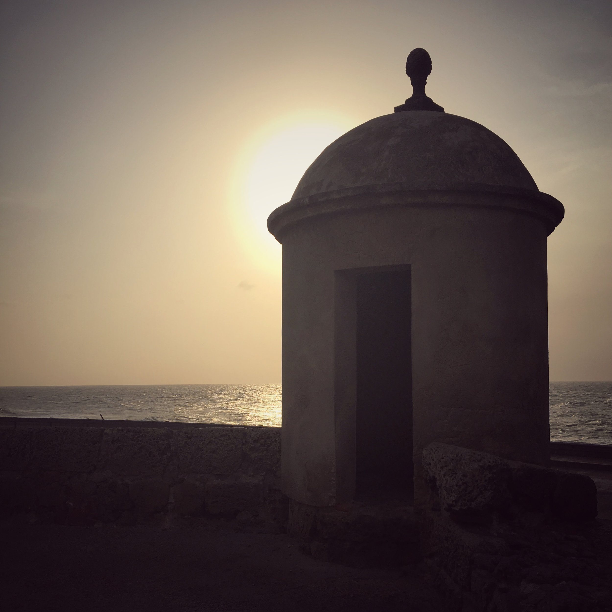 the cliche sunset Cartagena shot