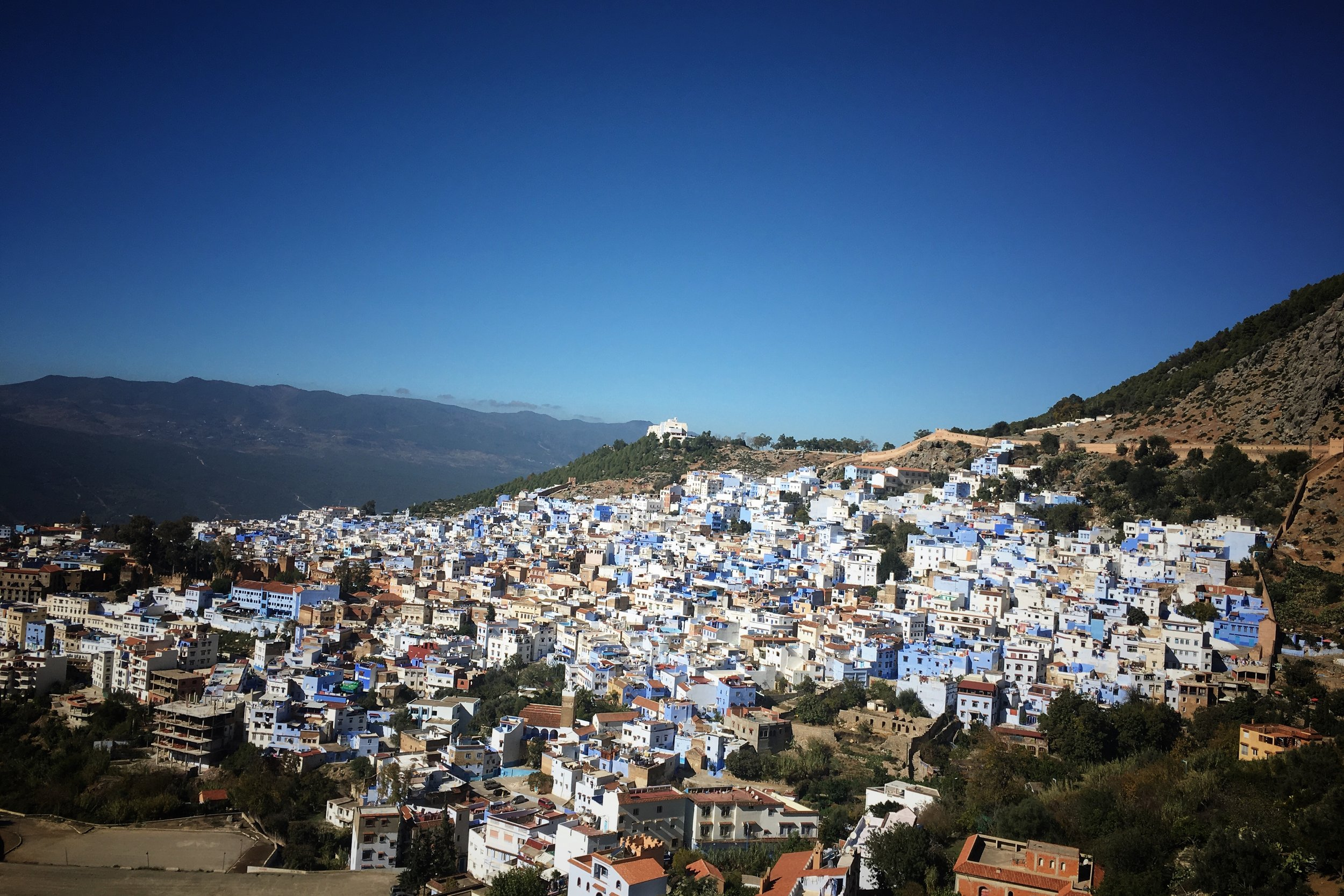 from the Spanish mosque,  looking back onto Chefchaouen