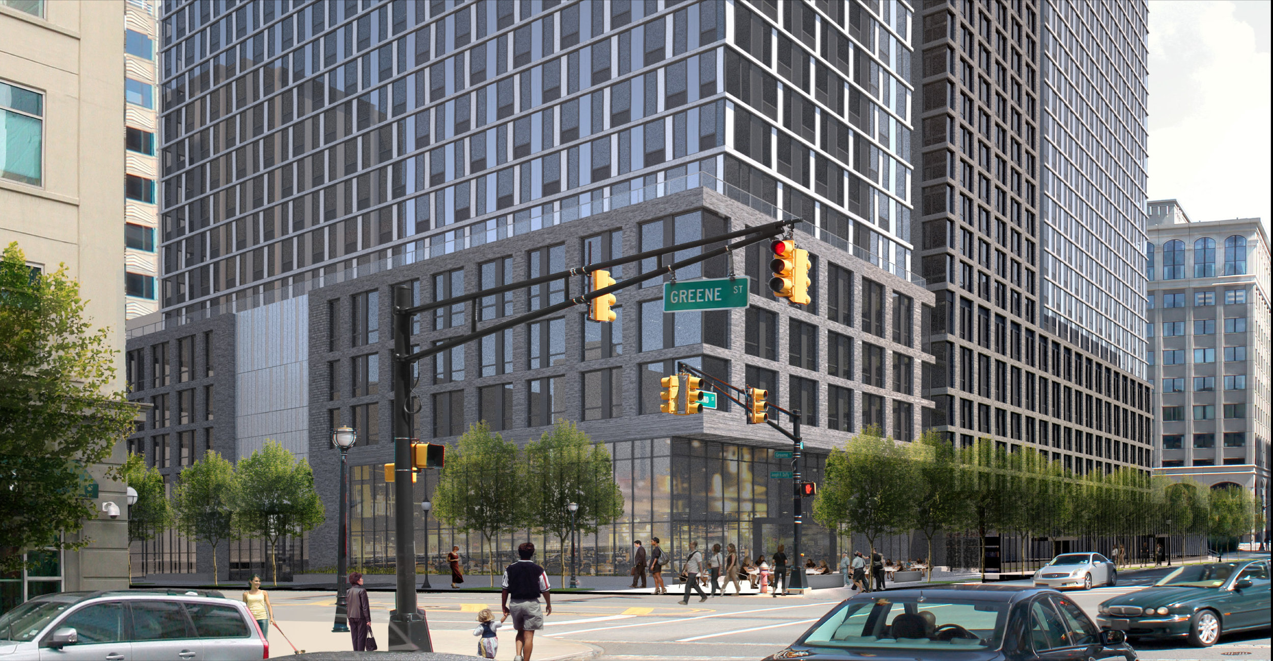 Street Level Renderings from Greene and Grand