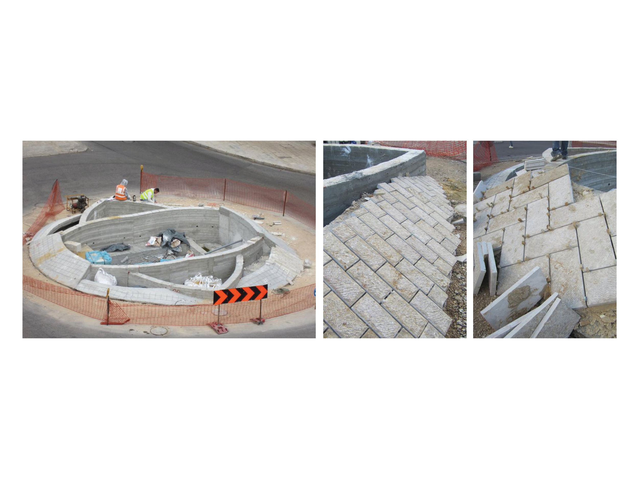 Laying of Stone Tiles