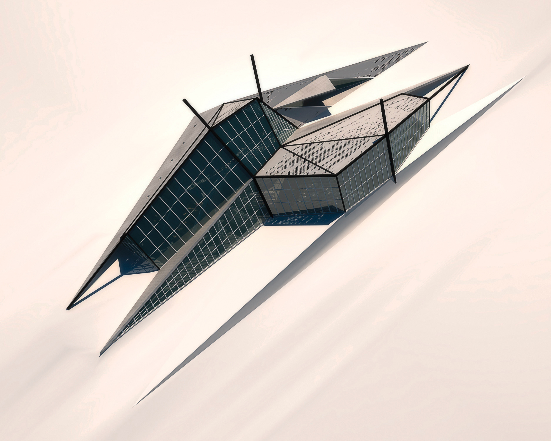 Rendering of Building Exterior and Site Context