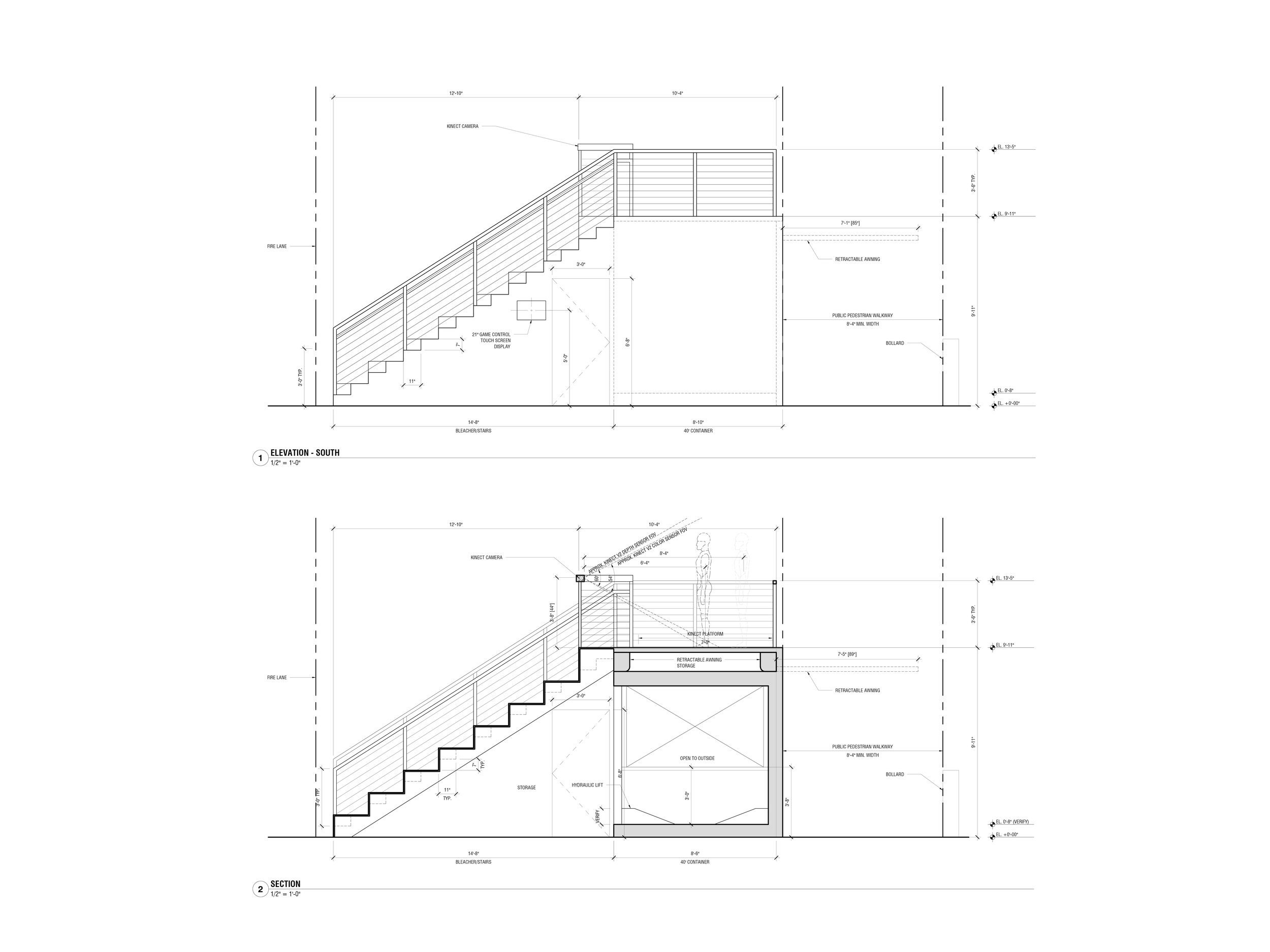 Elevation and Section