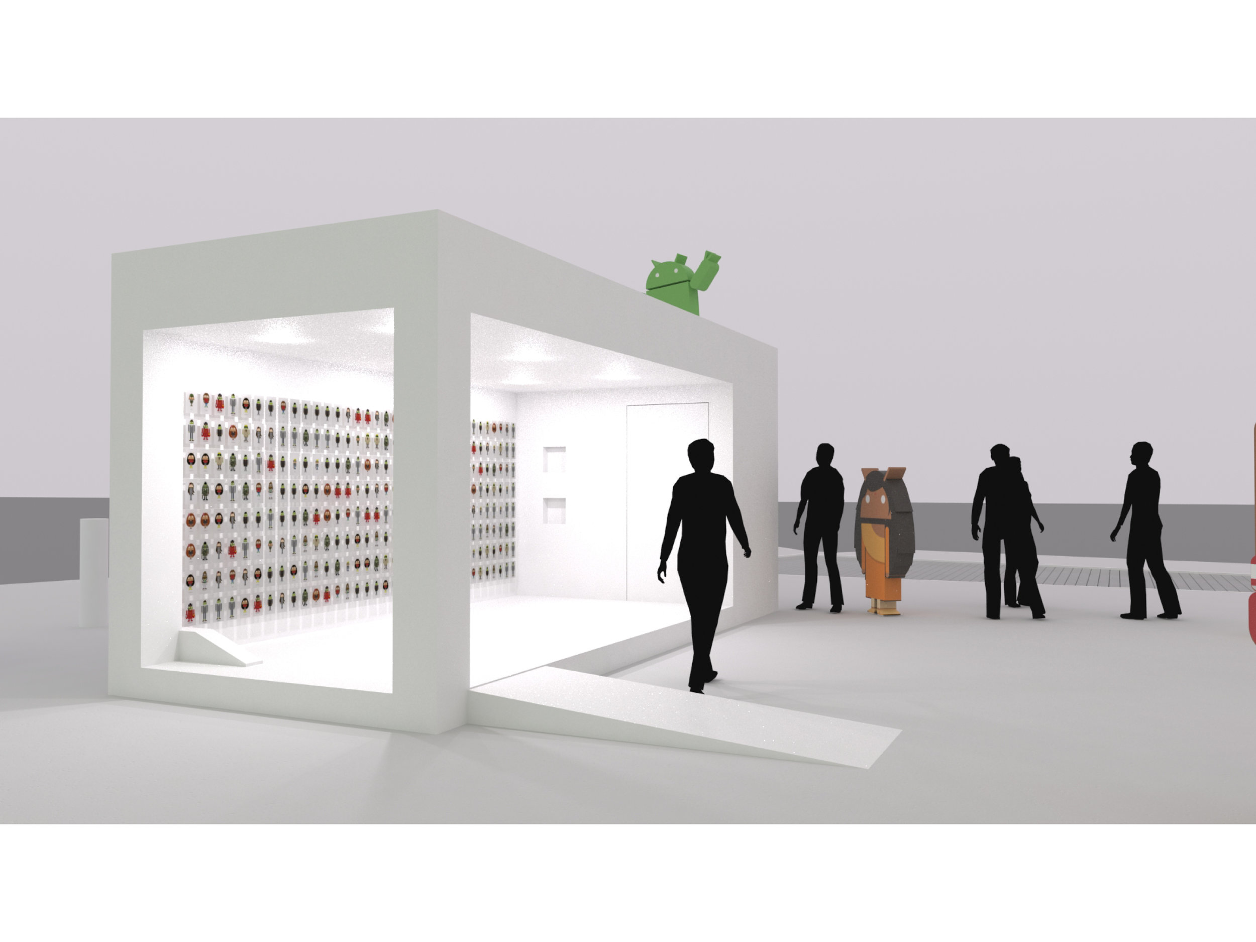 Exterior Rendering of Post Card Booth