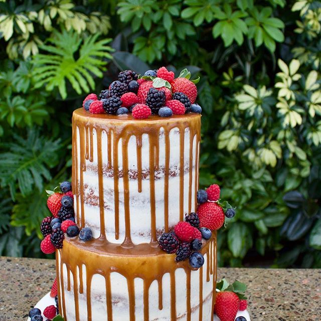 Aquatopia Conservatory has my favourite cake backdrop EVER! 😍🌿 Félicitations ma belle @desbiens_mm ❤️ Cinnamon swirl cake with salted brown sugar caramel and fresh berries! As always, all #vegan ❤️#mariemioli2018