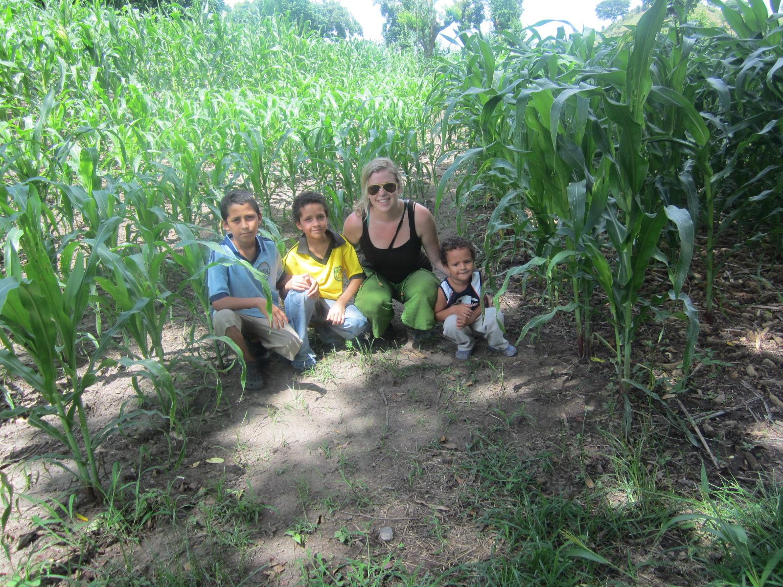 Working with campecinos in El Salvador, 2012