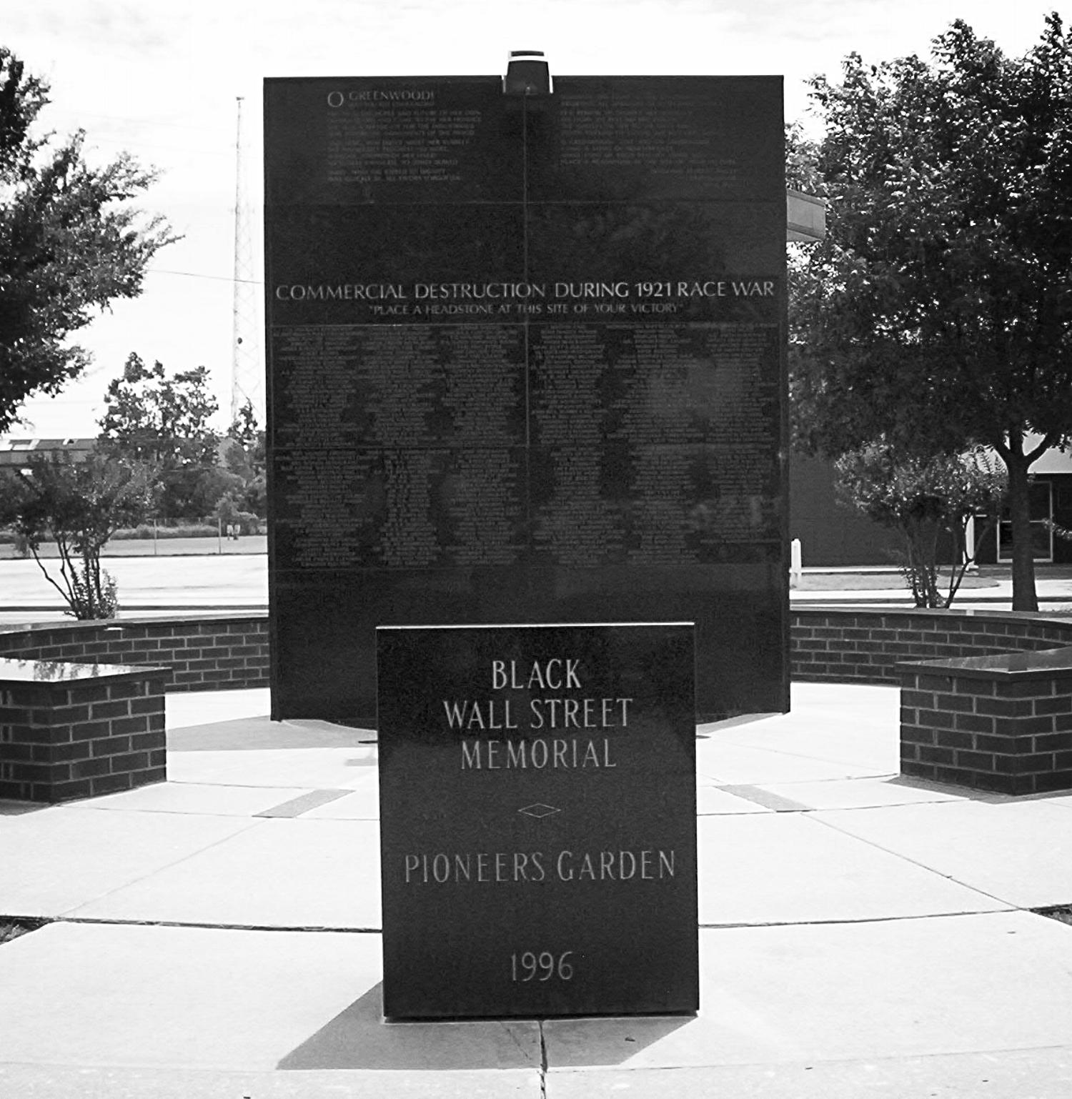 Black Wall Street Memorial in Tulsa, OK