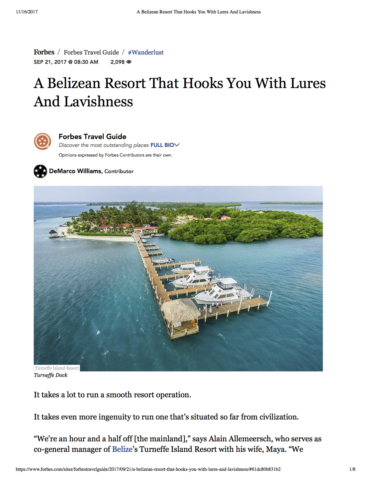Belize Dive Resort by Forbes
