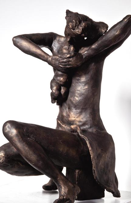 Maternity 40.28.30 cm painted terracotta