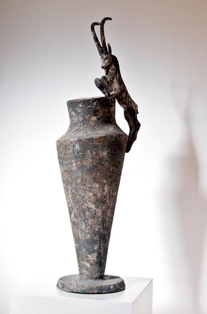 Vase 4 70.25.15 cm   Glazed terracotta