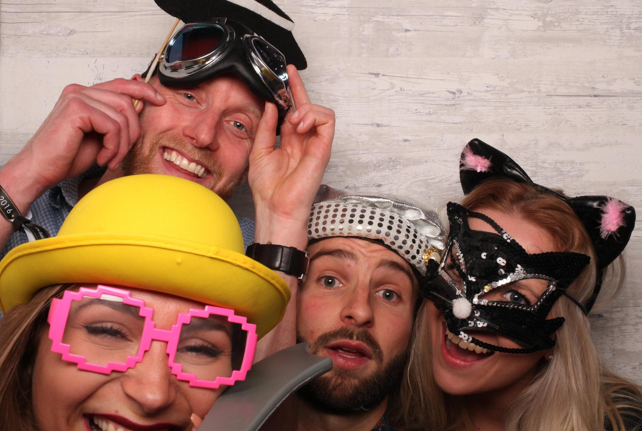 Groep collega's-photobooth-backdrop