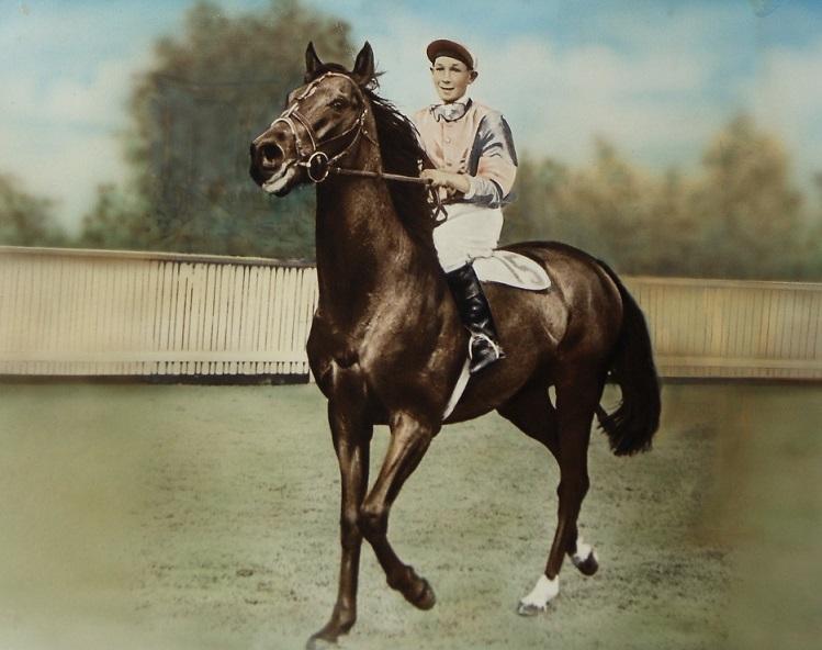 David Greaves riding Helmast 1955