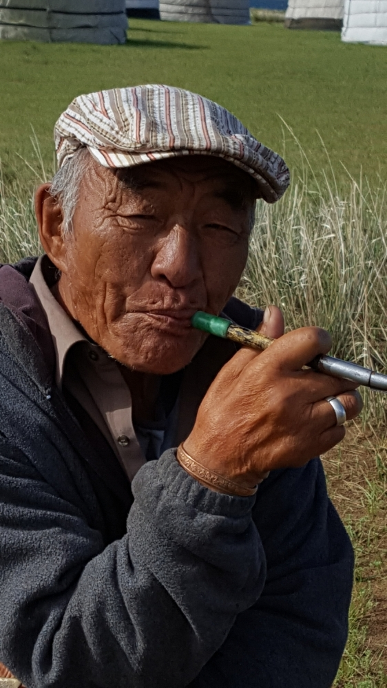 A local with his pipe