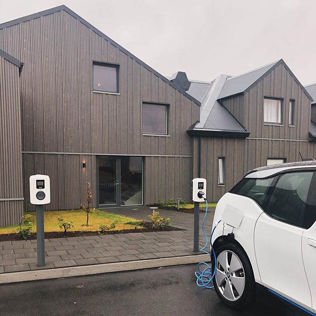 Now we have two @isorkaisland charging stations for those who are driving electric vehicles.🌱This is just one step of many Berg is taking to become more sustainable and eco friendly.