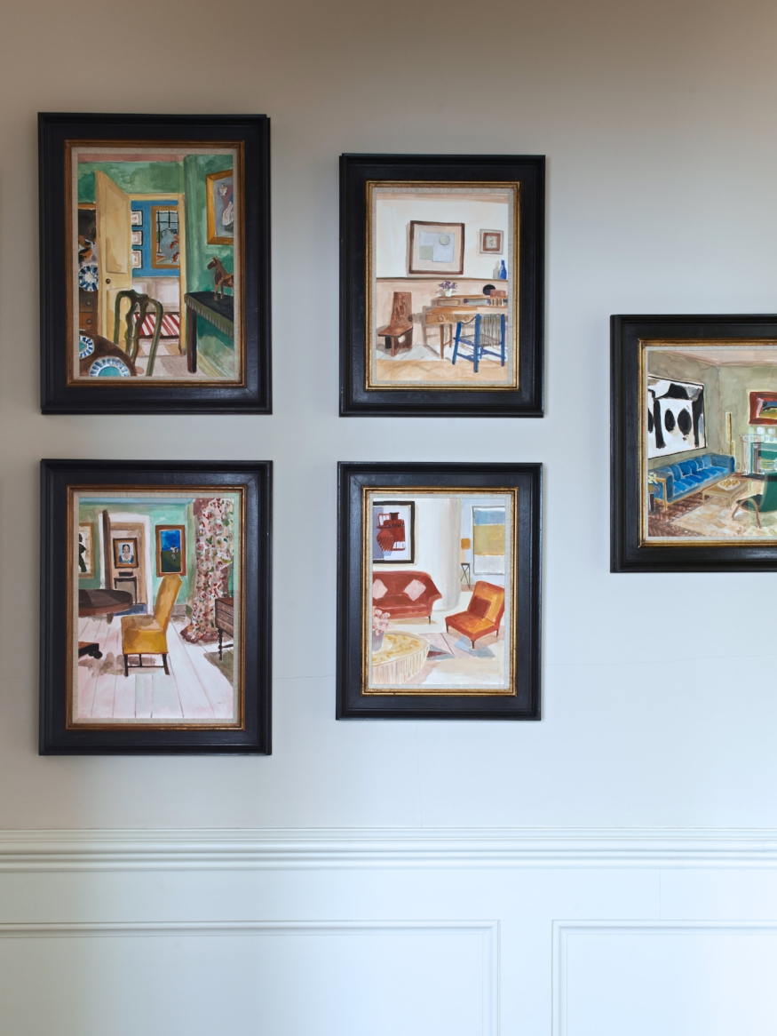 Family Home London designed by Rebecca Hughes Interiors featuring artwork by Lottie Cole available from Cricket Fine Art.