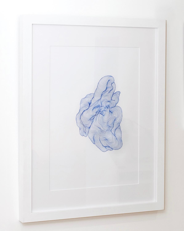Tatiana Wolska,  Sans-Titre , 2017. Stylogel Pentel sur papier, 60 cm x 40 cm .