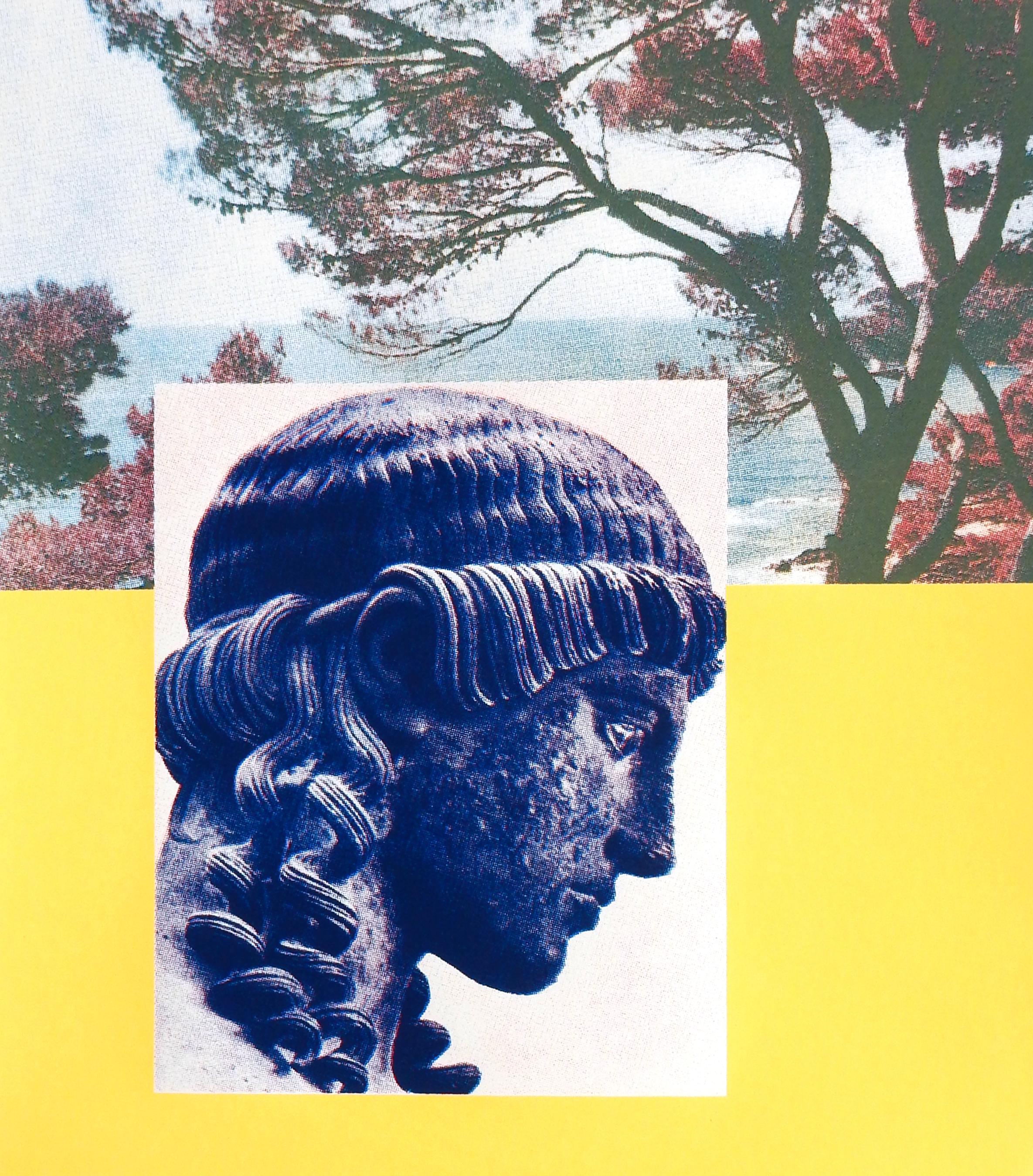 Coraline de Chiara,  Pierre bleue , 2017. Sérigraphie tirée à 25 exemplaires, 29,7 cm x 42 cm