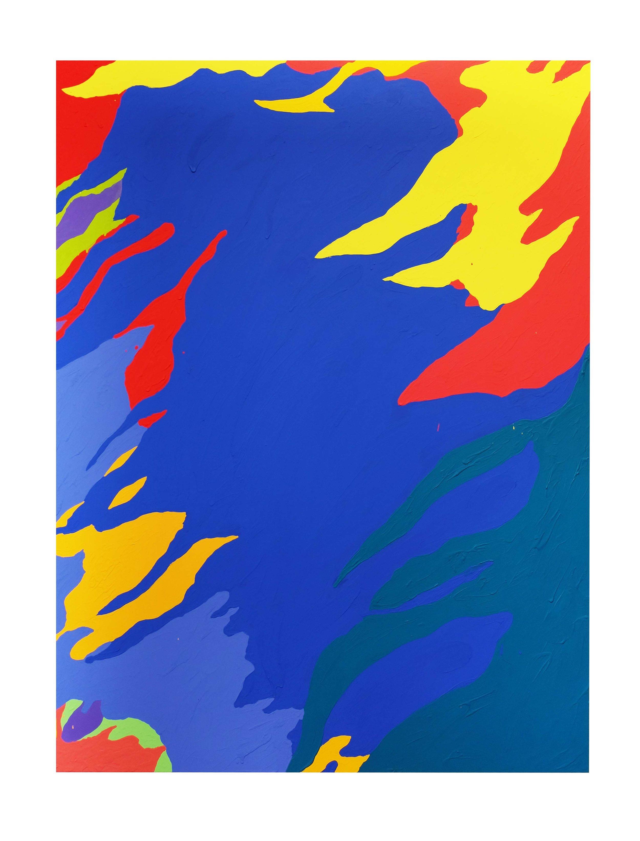 Louis Granet,  Sans-titre , 2017. Acrylique sur toile, 135 cm x 97 cm