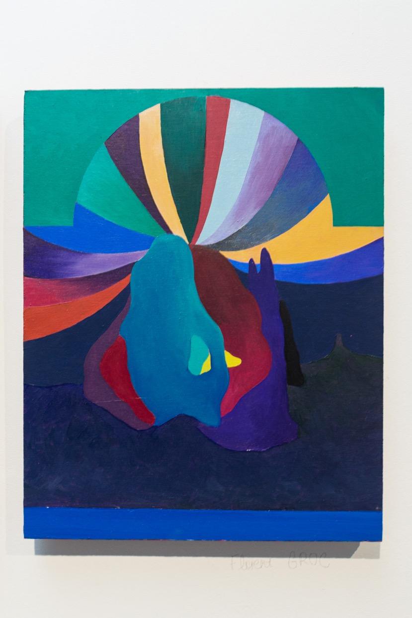 Florent Groc,  Le cirque , 2017. Huile sur bois, 29,1 cm x 36,4 cm