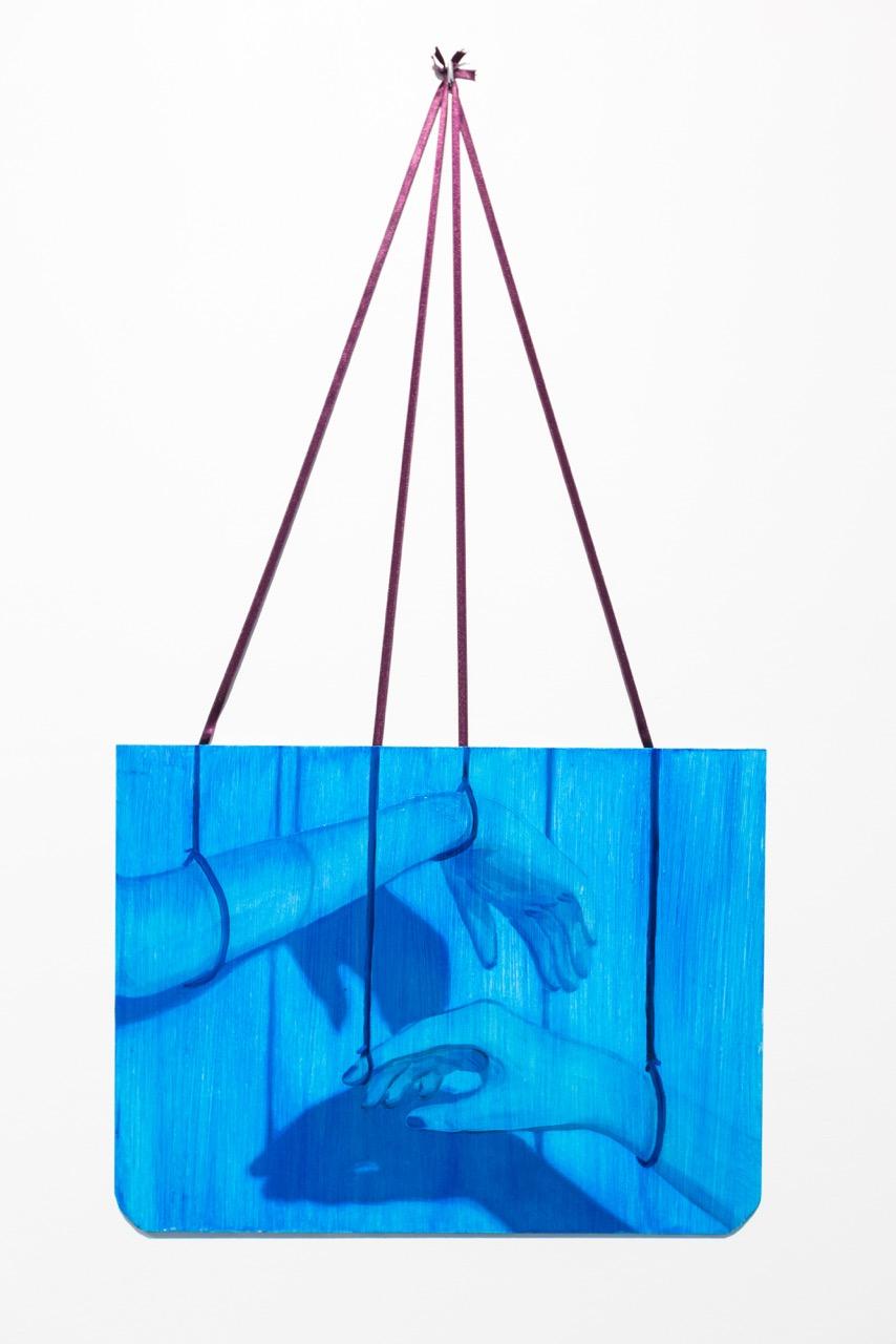 Lise Stoufflet,  Sans-titre , 2017. Huile sur bois, 30 cm x 40 cm