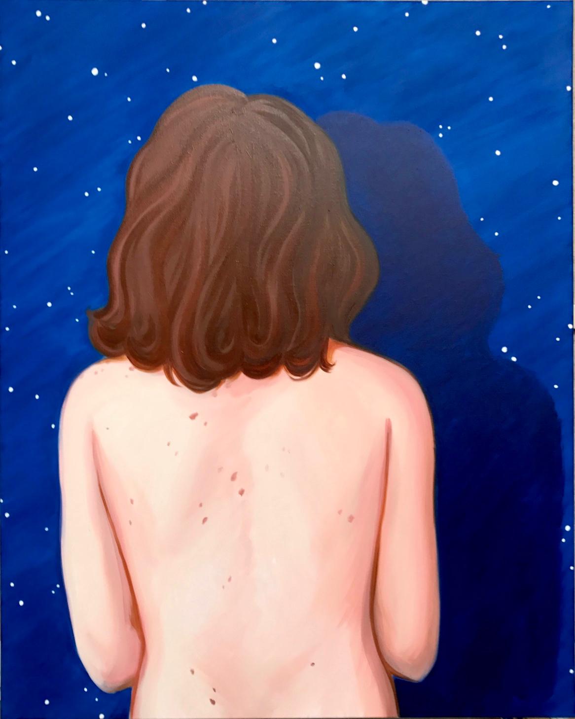 Lise Stoufflet,  Le fond du ciel II , 2017. Huile sur toile, 125 cm x 100 cm