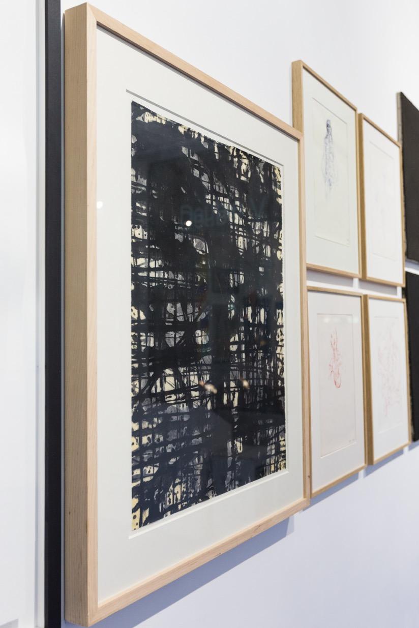 Gérard Traquandi,  Sans-titre , 2010. Huile sur papier japon, 65 cm x 48 cm