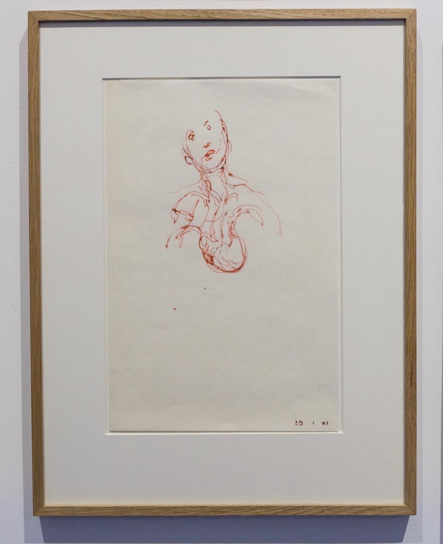 Gérard Traquandi,  Sans-titre , 2011. Encre sur papier japon, 35 cm x 22,5 cm