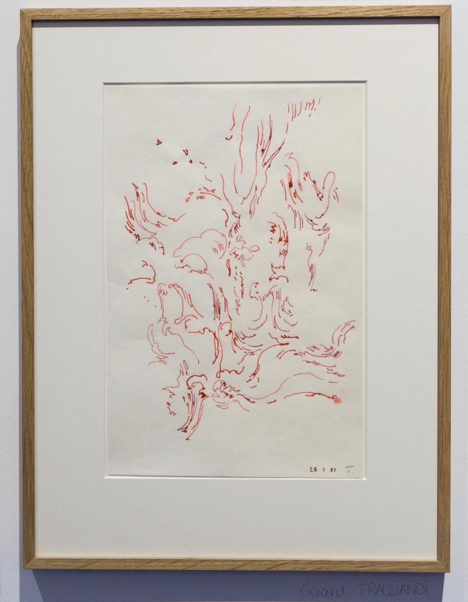 Gérard Traquandi,  Sans-titre , 2014. Encre sur papier japon, 34,5 cm x 22,5 cm