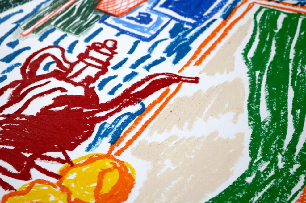 Alexandre Benjamin Navet -  Workshops Serie (Henri Matisse)  (détail), 2017 - Pastel à l'huile sur papier 220 g - 42 cm x 59,4 cm ( 71 x 96 avec encadrement )  Projet lauréat du prix du jury - Salon Caméra Caméra - Hôtel Windsor, Nice - Novembre 2017  Prix sur demande : contact@double-v-gallery.com