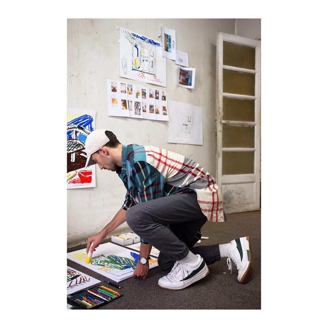 Alexandre Benjamin Navet - Montage Exposition Villa Santo Sospir - Double V Gallery x Jogging Marseille(C) Olivier Amsellem.jpg