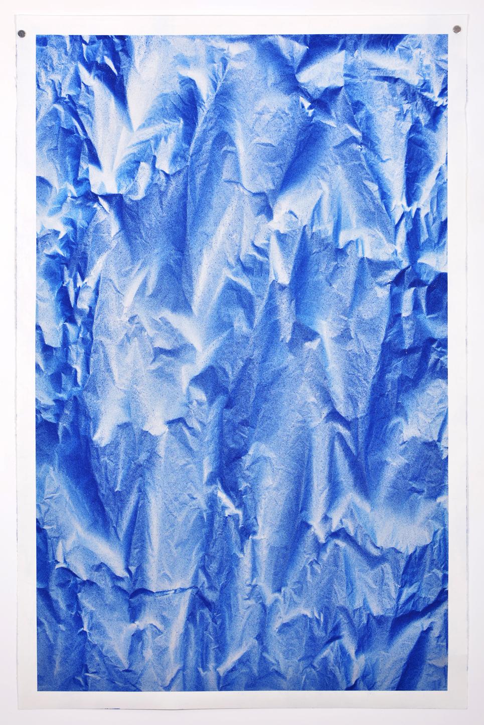 Benjamin Ottoz_ Double V Gallery_115x180cm Bleu Elec (2).jpg