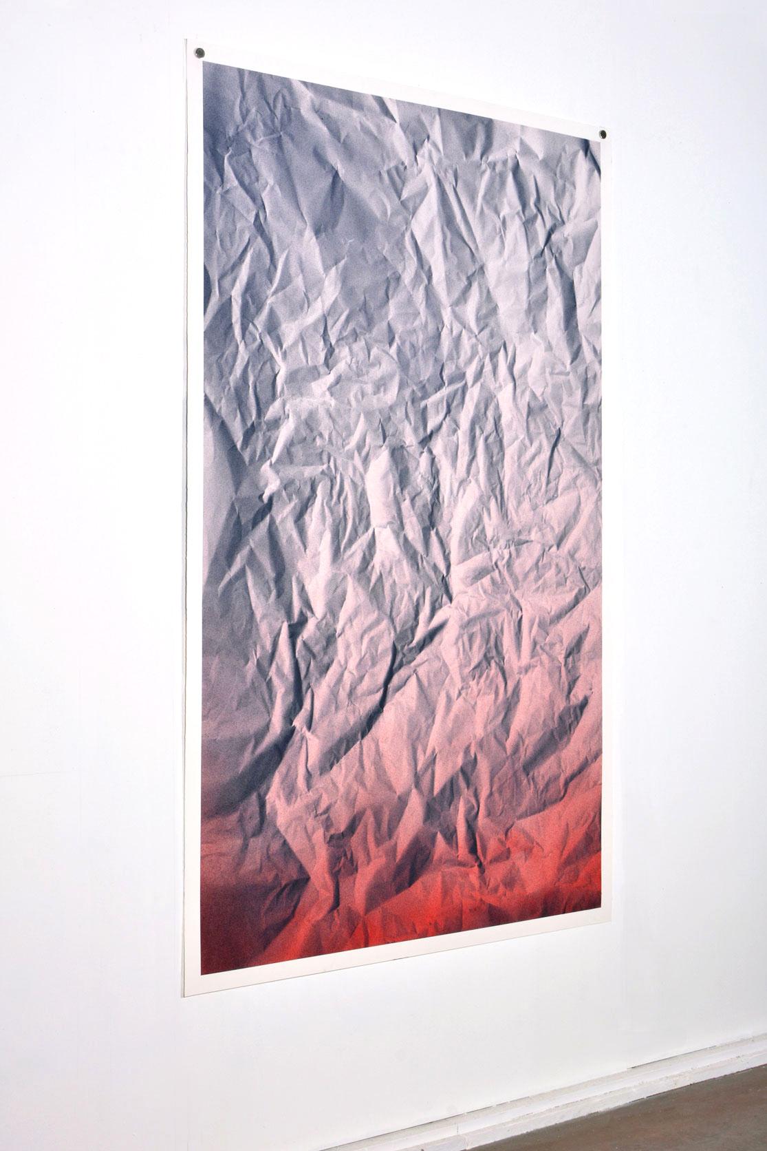 Benjamin Ottoz_ Double V Gallery_(7) Serendipity PF BR R 2.15 Peinture acrylique, 5 papiers Arches 185gm², 115 X180 cm, 2017. Collection particulière Anvers..jpg