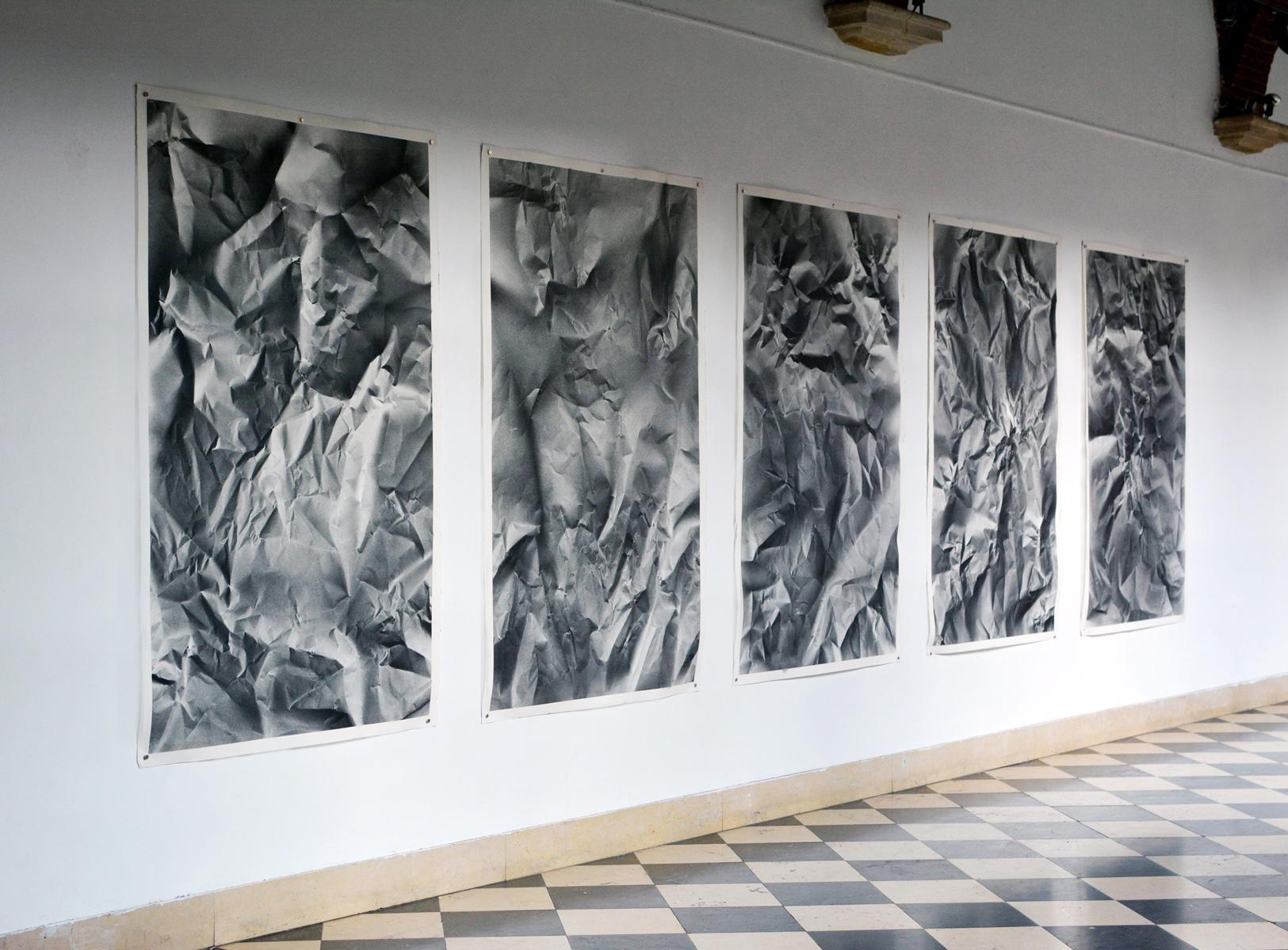 Benjamin Ottoz_ Double V Gallery_(6) Serendipity PF N2 15  Peinture acrylique, 5 papiers Arches 185gm², 115x180cm, 2015. Collection particulière Bruxelles.jpg
