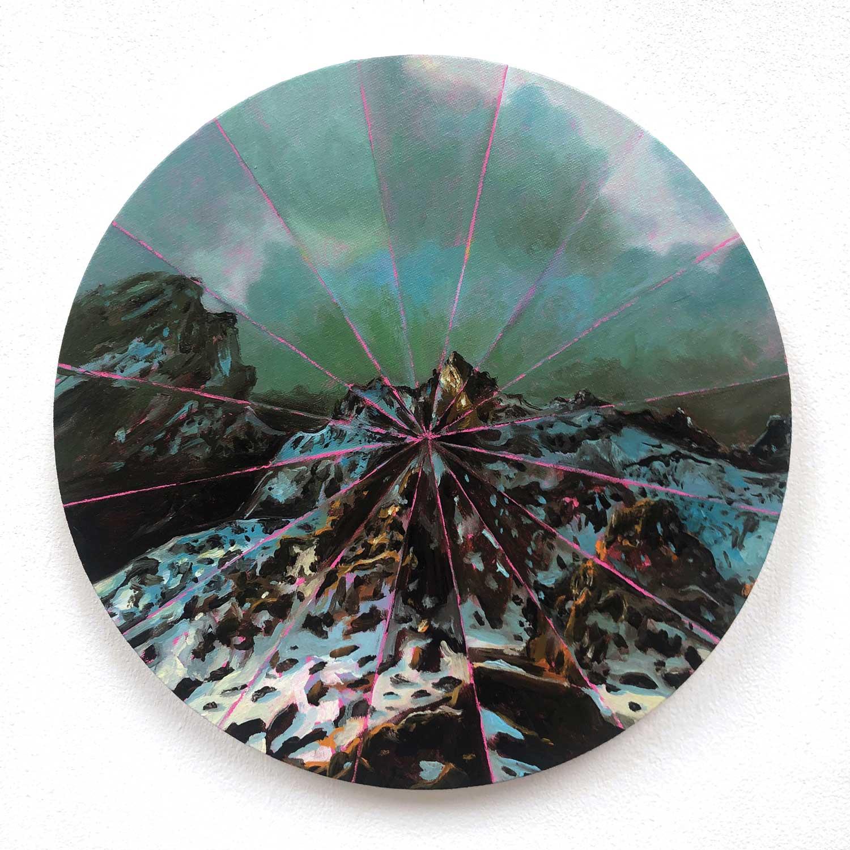 Coraline de Chiara_Double V Gallery_Marseille_Astère-OilonCanvas-30x30-2019.jpg