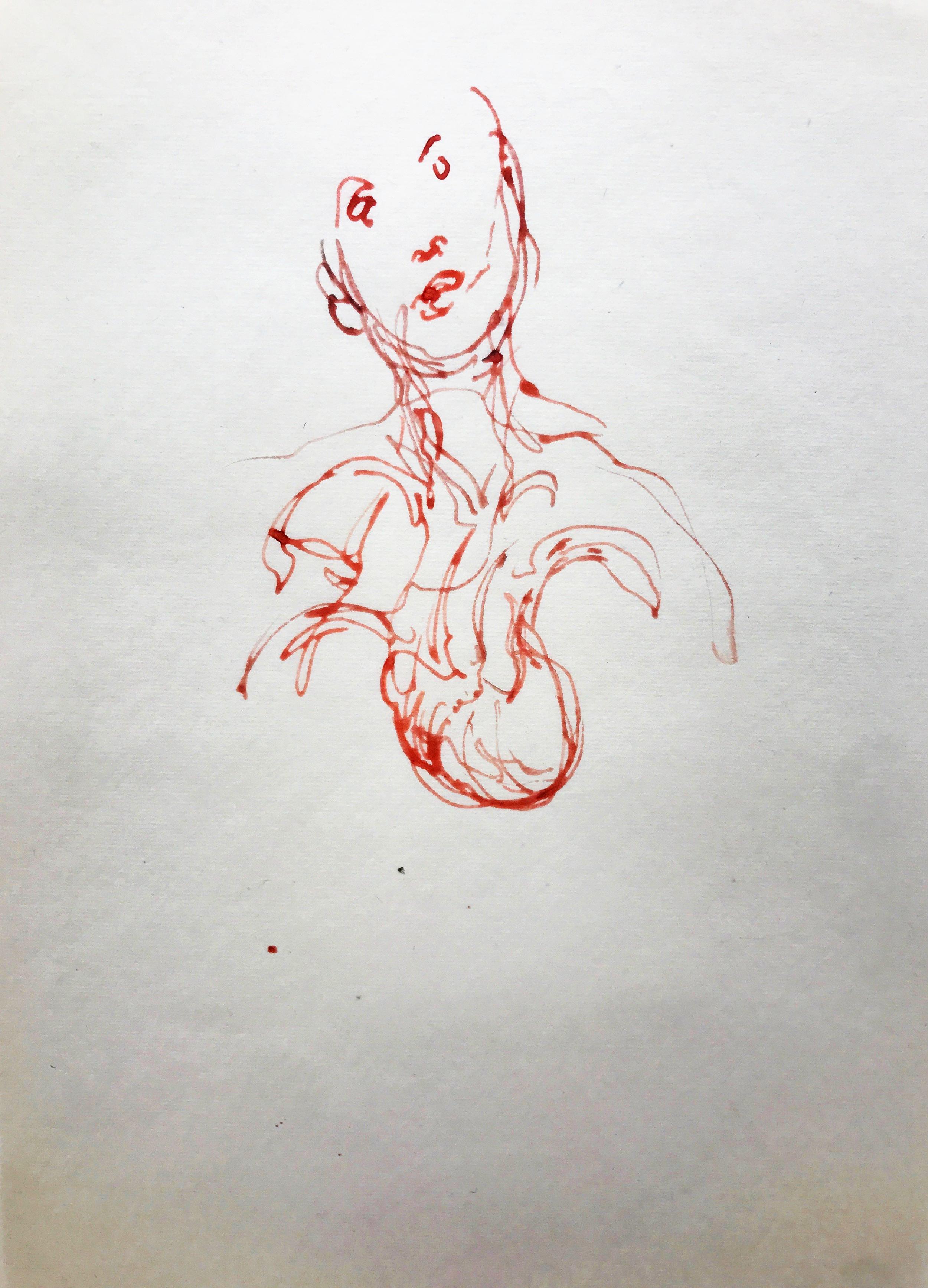 Gerard Traquandi - Sans titre, 2011 - Encre sur papier japon - 34,4 x 22,5 cm.jpg