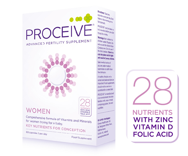 Proceive Fertility Supplements for Women with 28 Nutrients