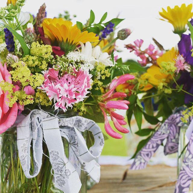 Jars of summer #britishflowers #homegrown #norfolkflowers