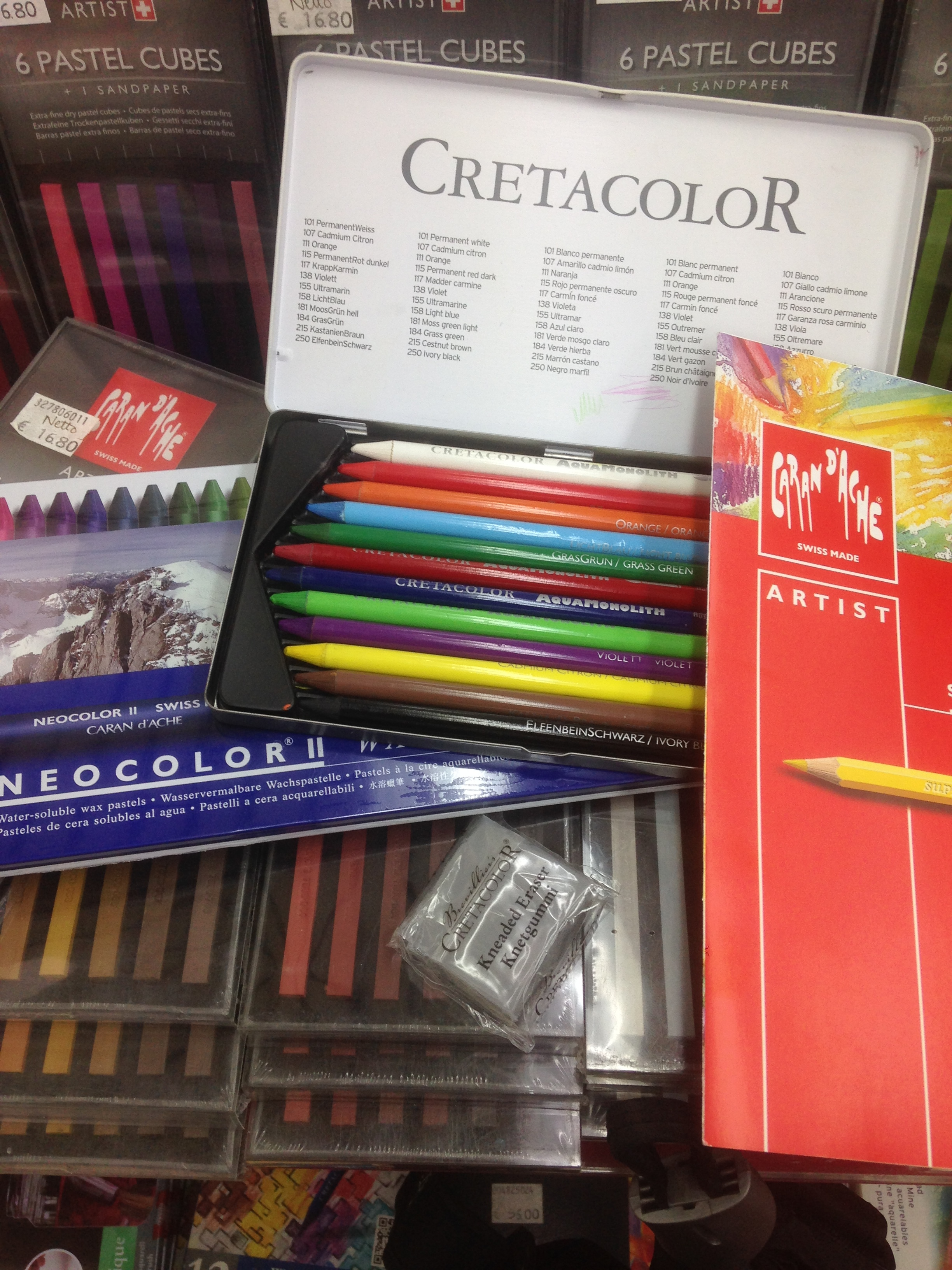 Tools of the trade. Testing out different water soluble options for coloring my artwork.